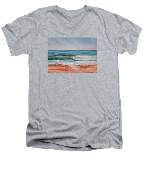 Love The Surf Men's V-Neck T-Shirt by Trina Teele
