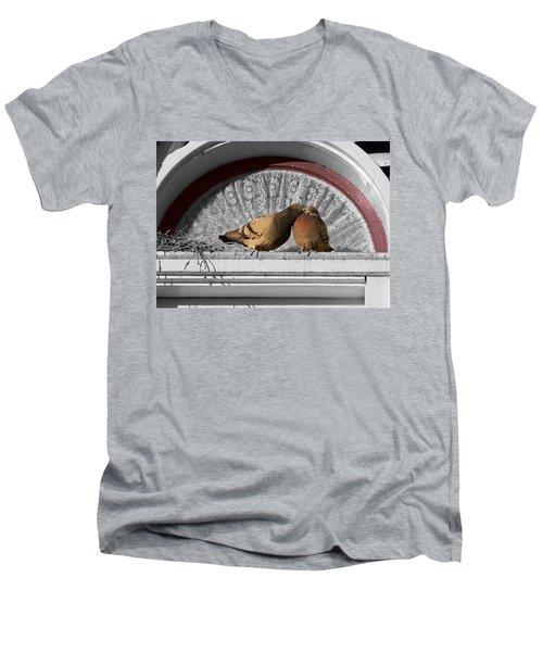 Lovebirds Men's V-Neck T-Shirt by Laurel Powell