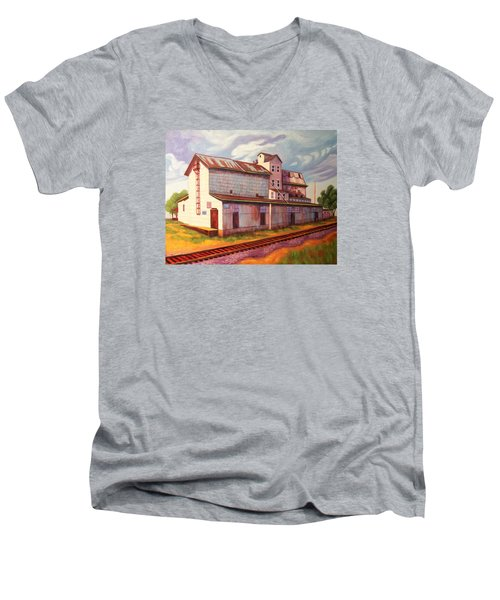 Loveland Feed And Grain Mill Men's V-Neck T-Shirt