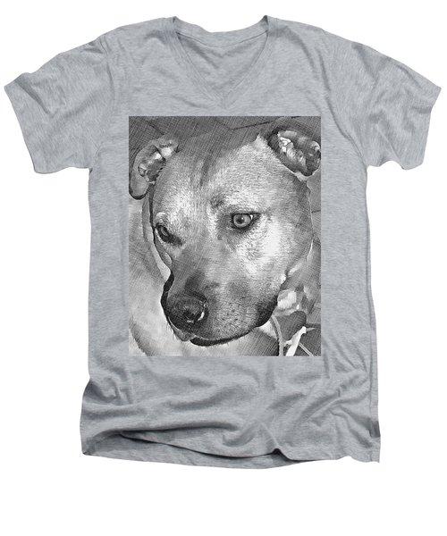 Lovely Dog Men's V-Neck T-Shirt