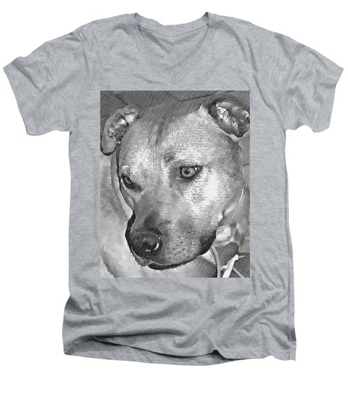 Lovely Dog Men's V-Neck T-Shirt