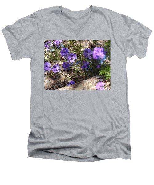 Lovely Lavender Men's V-Neck T-Shirt