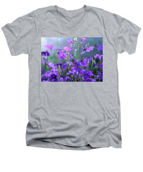Lovely Lobelia Men's V-Neck T-Shirt