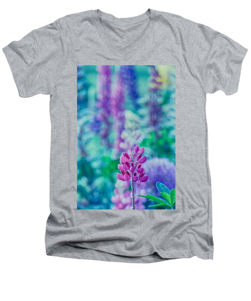 Lovely Lupine Men's V-Neck T-Shirt
