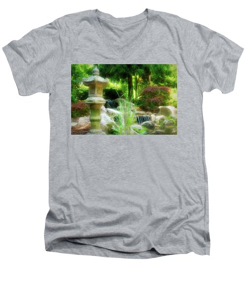 Loves Garden Men's V-Neck T-Shirt