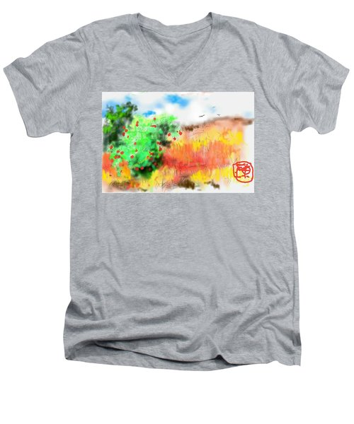lovin Idaho autumn Men's V-Neck T-Shirt