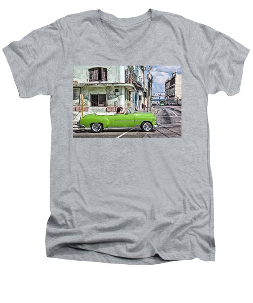 Lovin' Lime Green Chevy Men's V-Neck T-Shirt