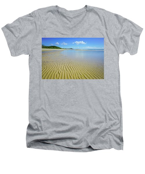 Low Tide Beach Ripples Men's V-Neck T-Shirt