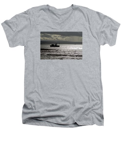 Men's V-Neck T-Shirt featuring the photograph Low Tide In Isle Of Skye by Dubi Roman