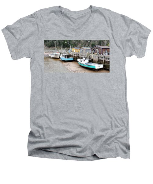 Low Tide In St. Martins Men's V-Neck T-Shirt
