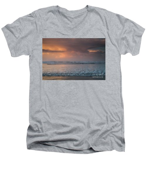 Low Tide  Men's V-Neck T-Shirt by Iris Greenwell
