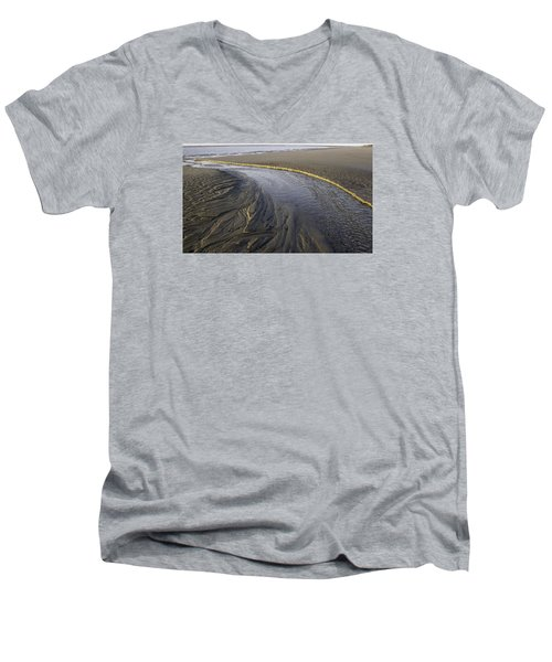 Low Tide Morning Men's V-Neck T-Shirt by Elizabeth Eldridge