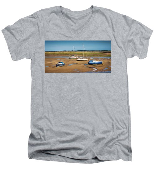 Men's V-Neck T-Shirt featuring the photograph Low Tide by Nick Bywater