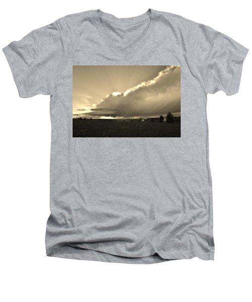 Low-topped Supercell Black And White  Men's V-Neck T-Shirt