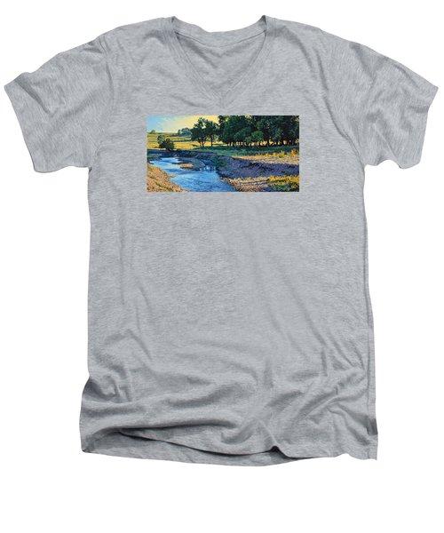 Low Water Morning Men's V-Neck T-Shirt by Bruce Morrison