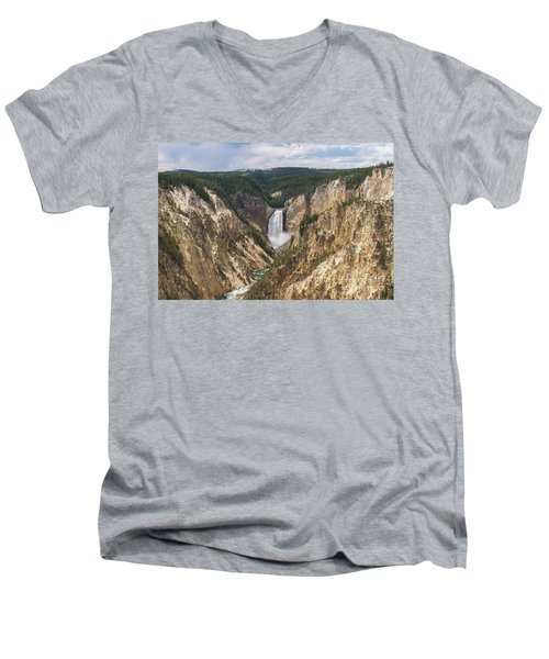 Lower Falls Of The Yellowstone Men's V-Neck T-Shirt