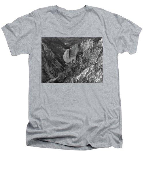 Lower Falls Men's V-Neck T-Shirt by Sheila Ping