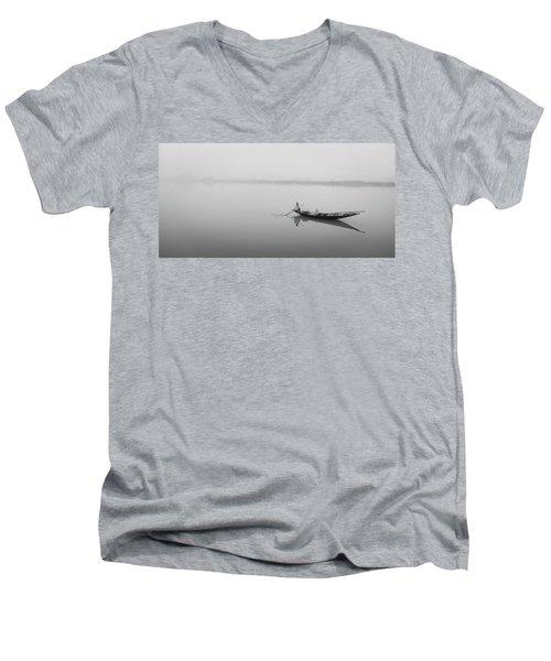 Lower Ganges - Misty Morinings Men's V-Neck T-Shirt