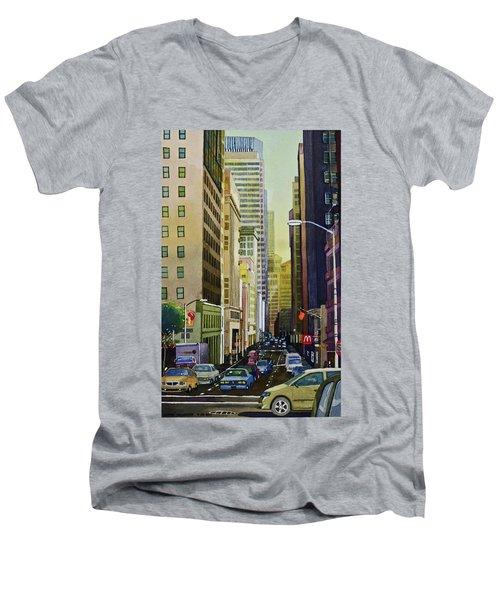 Lower Pine Street Men's V-Neck T-Shirt