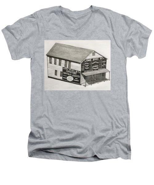 Lowe Brothers Hardware  Men's V-Neck T-Shirt by Tony Clark