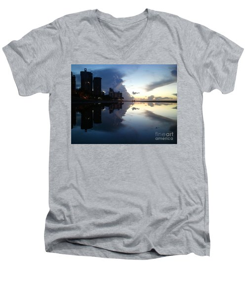 Loyda's Point Of View Men's V-Neck T-Shirt by Reina Resto
