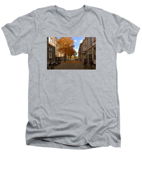 Little Lady Mary Square In October Maastricht Men's V-Neck T-Shirt by Nop Briex