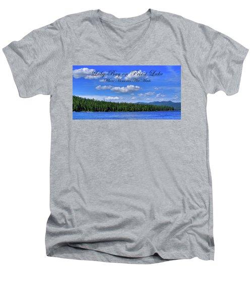 Luby Bay On Priest Lake Men's V-Neck T-Shirt