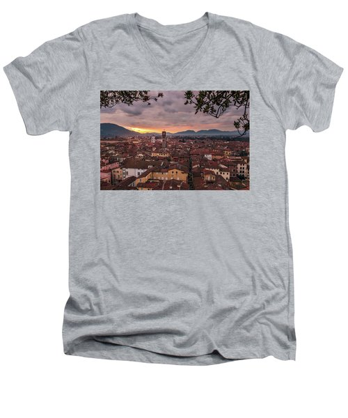 Lucca In Tuscany Men's V-Neck T-Shirt