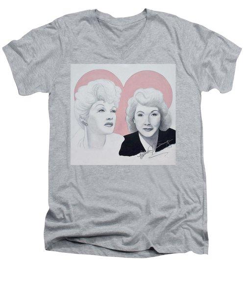 Lucille And Vivian Men's V-Neck T-Shirt