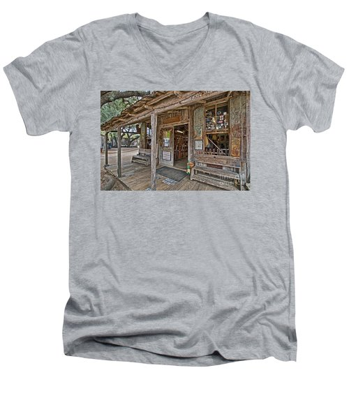Luckenbach Post Office And General Store_4 Men's V-Neck T-Shirt