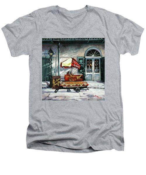 Lucky Dogs Men's V-Neck T-Shirt