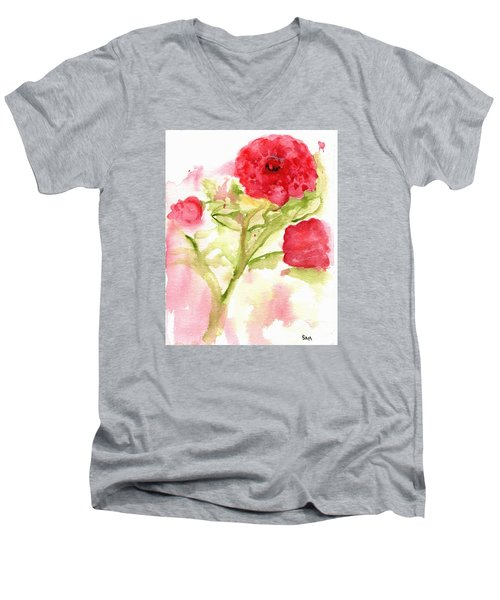 Lucky Rose Men's V-Neck T-Shirt
