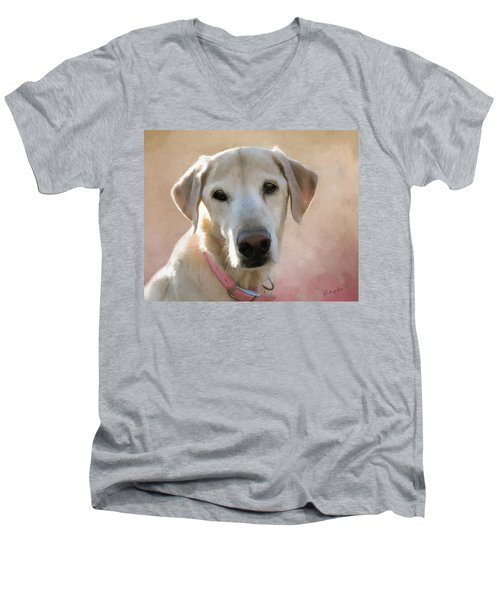 Lucy In Pink Men's V-Neck T-Shirt