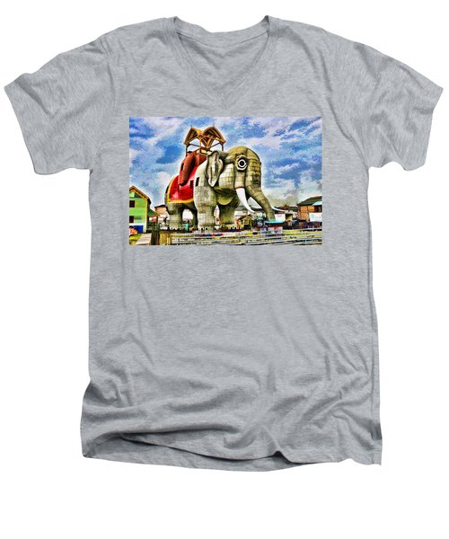 Lucy The Elephant 2 Men's V-Neck T-Shirt