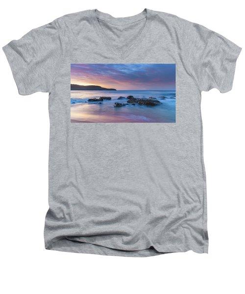 Luminescent Sunrise Seascape Men's V-Neck T-Shirt