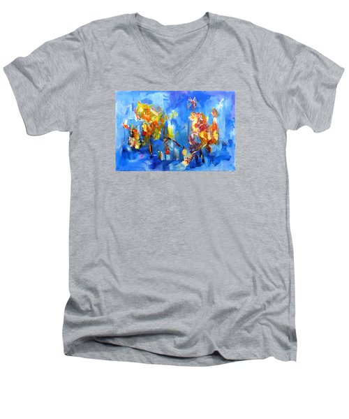 Luminous Celebration  Men's V-Neck T-Shirt