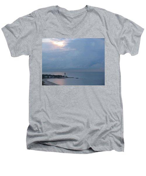 Luminous Lighthouse Men's V-Neck T-Shirt