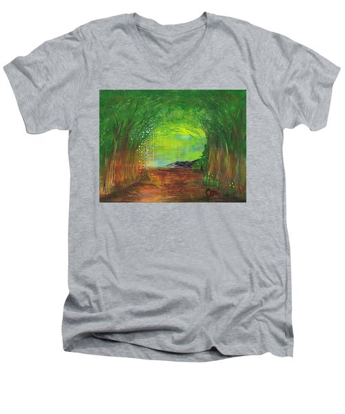 Luminous Path Men's V-Neck T-Shirt