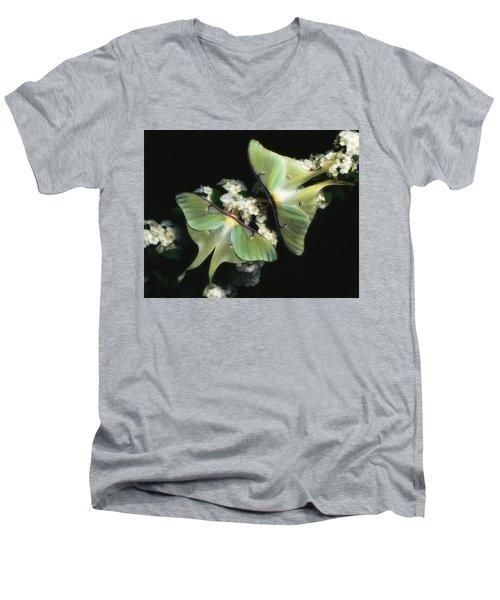 Luna Moths Men's V-Neck T-Shirt