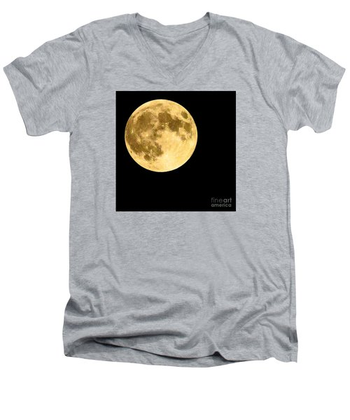 Lunar Close Up Men's V-Neck T-Shirt