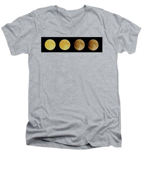 Lunar Eclipse Progression Men's V-Neck T-Shirt