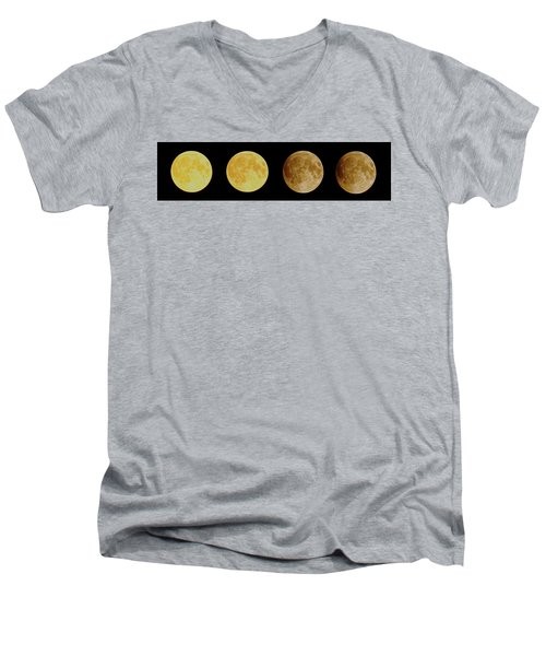 Lunar Eclipse Progression Men's V-Neck T-Shirt