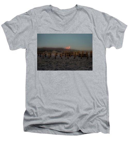 Lunar Eclispe  Men's V-Neck T-Shirt