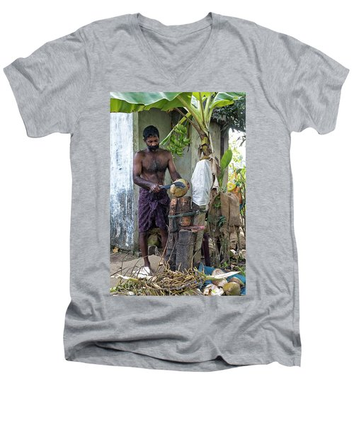 Lunch Men's V-Neck T-Shirt by Marion Galt