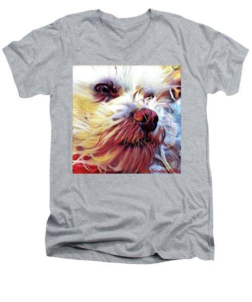 Lupi Men's V-Neck T-Shirt by Judy Morris