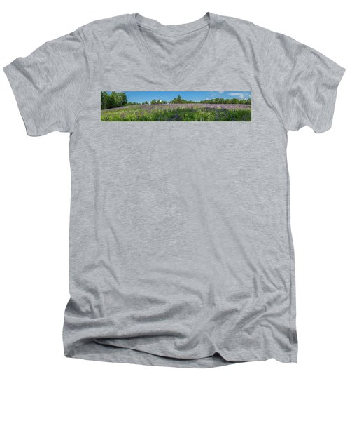 Lupine Field Men's V-Neck T-Shirt