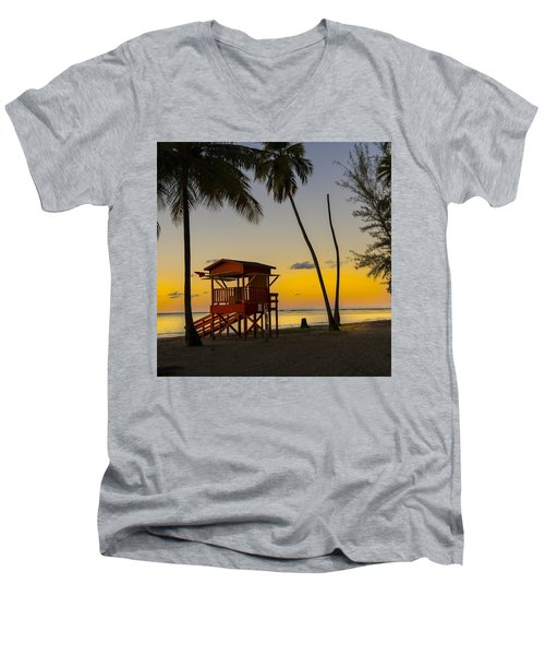 Luquillo Sunset  Men's V-Neck T-Shirt