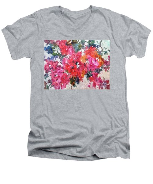 Luscious Bougainvillea Men's V-Neck T-Shirt