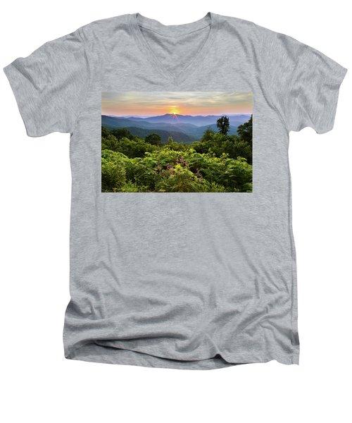 Lush Sunset In June Men's V-Neck T-Shirt
