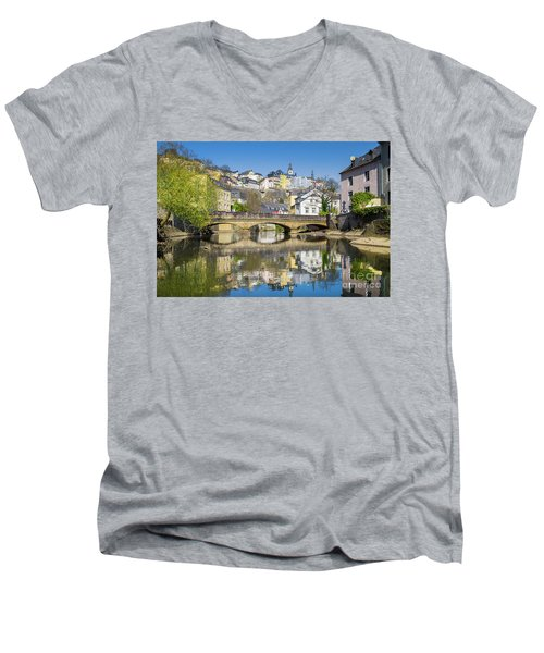 Luxembourg City Men's V-Neck T-Shirt by JR Photography